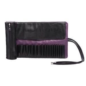 NWT Younique Black & Purple Brush Roll